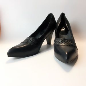 New Calleen Cordero Studded Leather Pumps